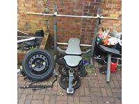 Tunturi Olympic Weight Bench with weights bundle