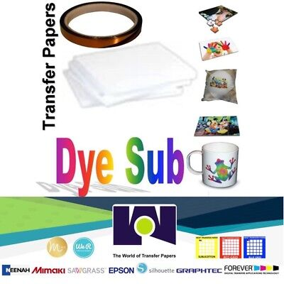 Dye Sublimation Transfer Paper For Virtuoso Epson 100 Sh 8.5x11 1 Roll Tape