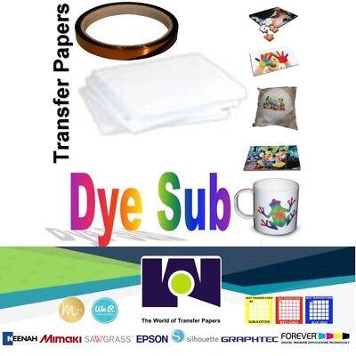 Epson Heat Transfer (Dye Sublimation Transfer Paper for Virtuoso & Epson 100 sh 8.5x11 + 1 Roll Tape )