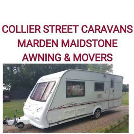 elddis odyssey 524 /4 berth caravan awning +movers