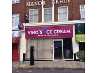 Shop to Let in Harrow, Manor Parade, previous ice cream shop. Available immediately
