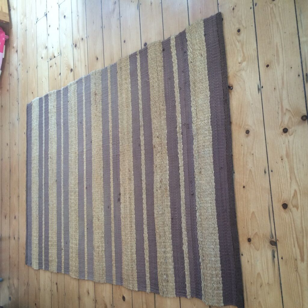 Jute Rattan Natural Amp Brown Striped Rug In Plymouth