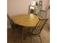Ercol dining table drop leaf blonde
