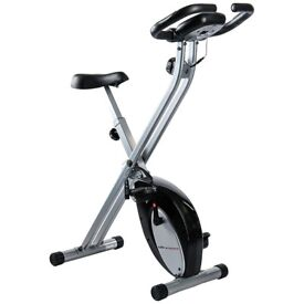 Ultrasport F-Bike, Folding Exercise Bicycle Trainer with Hand Sensors