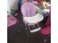 Brand new red kite high chair