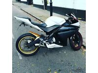 125cc yamaha yzf great condition, very low cost on petrol rides brilliant