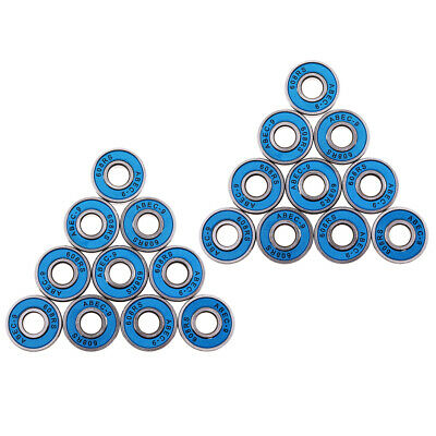 20 Pcs Abec-9 Skateboard Longboard Skate Roller Hocker Wheel Steel Bearings
