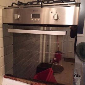 Hotpoint Stainless Steel Gas Hob and Electric Oven