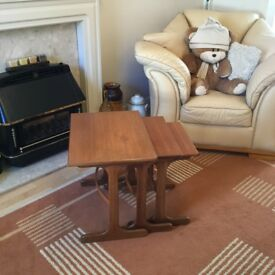 Antique Vintage Retro G Plan Teak Nest of Tables Nested Tables Coffee Tables