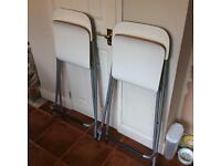 Fold away IKEA bar chairs/stools, pair of. Used condition