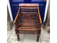 Oriental Hardwood Chair - Good Quality and Condition. Must be seen... Free Local Delivery
