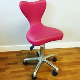 Hairdressing beauty salon REM stool with backrest