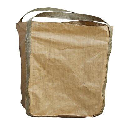 2t/ 4400lbs FIBC Bulk Bag Super Waste Sack 1x1x1.2m w/Duffle Top & 2 Handles