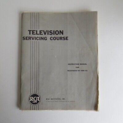 Service Manual-kit (1961 RCA Television Servicing Course Instruction Manual Kit HSK 61 TV Service)