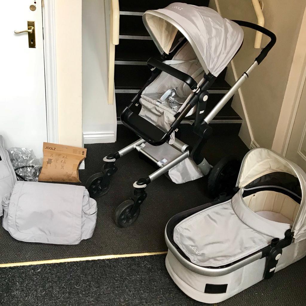 Joolz Day Pushchair Stroller Pram Travel System Carrycot Bundle Grey