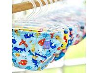 Bambino Mio Reusable Swim Nappy 5-7kgs Small Blue Shark *NEW*