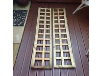Two times timber trellis plus five letters of Ronseal wood stain see images