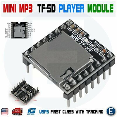 Mini Mp3 Player Module With Simplified Output Speaker U-disk Tf Sd For Arduino