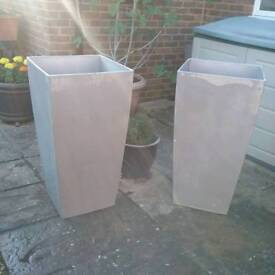TWO Very Large Planters made by Lechuza £100