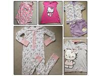 Hello kitty 8-9 bundle onesie swimming skirt jacket nightdress
