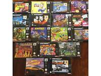 17 x Nintendo N64 games
