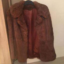 100% Coney Skin Vintage Fur Coat