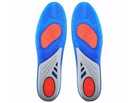 GEL Sports Orthotic Insoles - Size: UK Man's 8-12 - Brand New