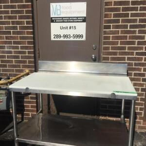 Stainless Steel Butcher Tables with Cutting Board
