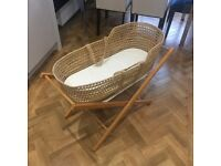 Moses Basket, Bath and Stand