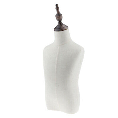 Child Torso Dress Form Mannequin Display Bust Dressmaking Dummy Linen White