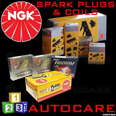 NGK Iridium Spark Plugs & Ignition Coil Set SILFR6A11 (5468)x4 & U5062 (48227)X4