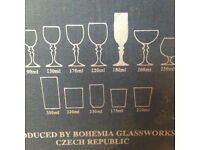 Bohemia Crystal 1990 180ml champagne flutes x6 New in box from 1990