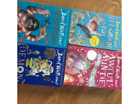 4 x David Walliams childrens books