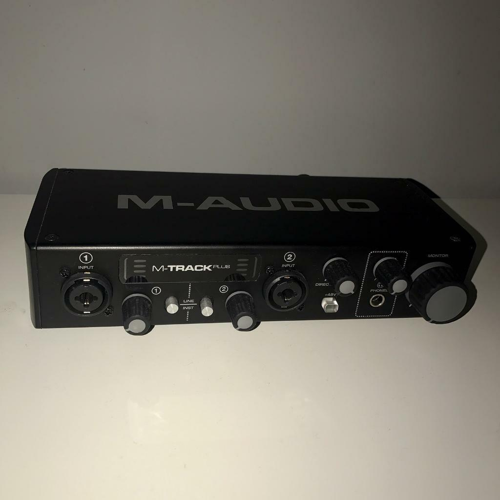M-Audio M-Track Plus II - Two-Channel USB 2.0 Audio Interface with 24-bit/96kHz