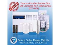 Texecom Ricochet Premier Elite Self Contained Kit 4 with Sounder Home alarm system in UK