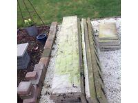 Decorative concrete fence insert. PRICE PER PANEL. Gravel board/ panel/raised border edge