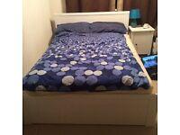 IKEA-BRUSALI double bed frame (white)