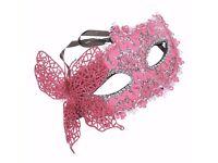 Lace Carnival Mask Masquerade Luxury Mask Pink Venetian Mask Notting Hill Ball Fancy Dress