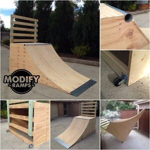 Modify Ramps - 3ft High x 4ft Wide Quarter Pipe Skate Ramp Raymond Terrace Port Stephens Area Preview