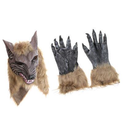 Böse Werwolf Maske Wolf mit Latexhandschuhe für Cosplay Party / Karneval ()