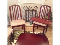 Soild dining room table and chairs