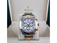 TwoTone White Face Rolex Daytona £120!! Or Boxed with Paperwork £140