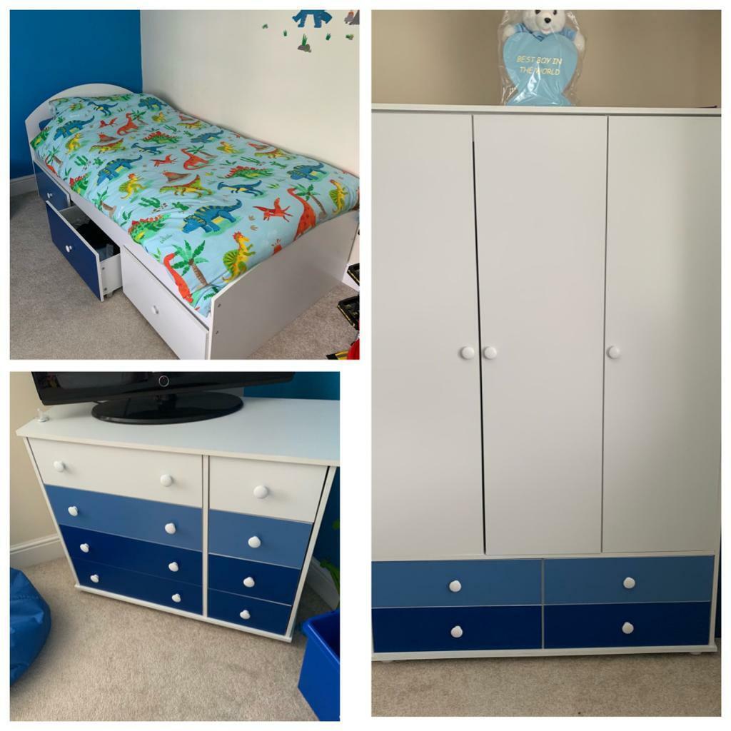 Boys Bedroom Furniture Set Bed Wardrobe Drawers In Hartlepool County Durham Gumtree