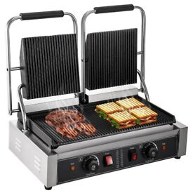 ELECTRIC GRILL COMMERCIAL PANINI MAKER GRILL