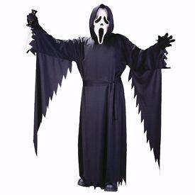 Children's OFFICIAL Scream Ghost Face Horror Movie Halloween Fancy Dress Costume BN