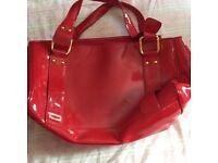 Red Patent large Handbag - New