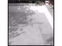 Granite Silver Grey Patio Paving | 20mm, 600x600mm | 17.28m² Pack £445 *FREE NATIONWIDE DELIVERY*