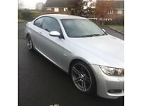 bmw 320d m sport 2008 57 plate coupe manual xenon lights leather seats service history mot