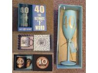 40th mugs/ glasses