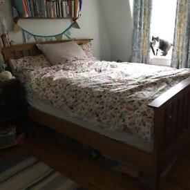 Marks & Spencer oak frame double bed